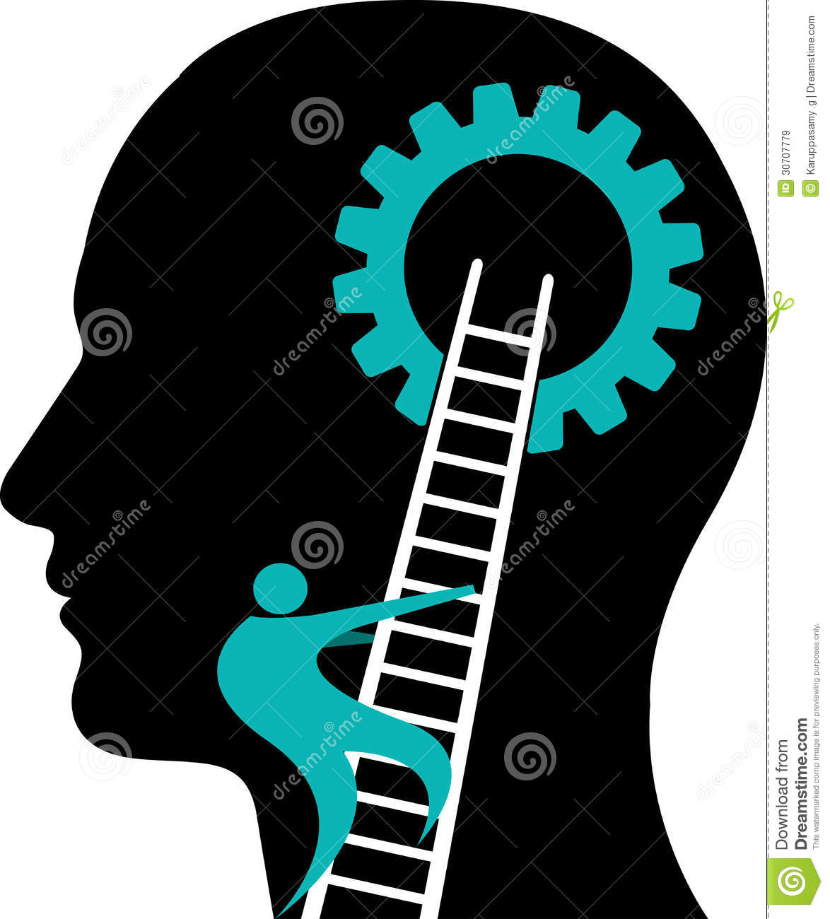 Mind Gear Logo Royalty Free Stock Images - Image: 30707779