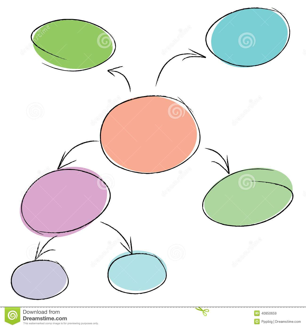 Mind mapping stock illustration illustration of connect for Information mapping word template