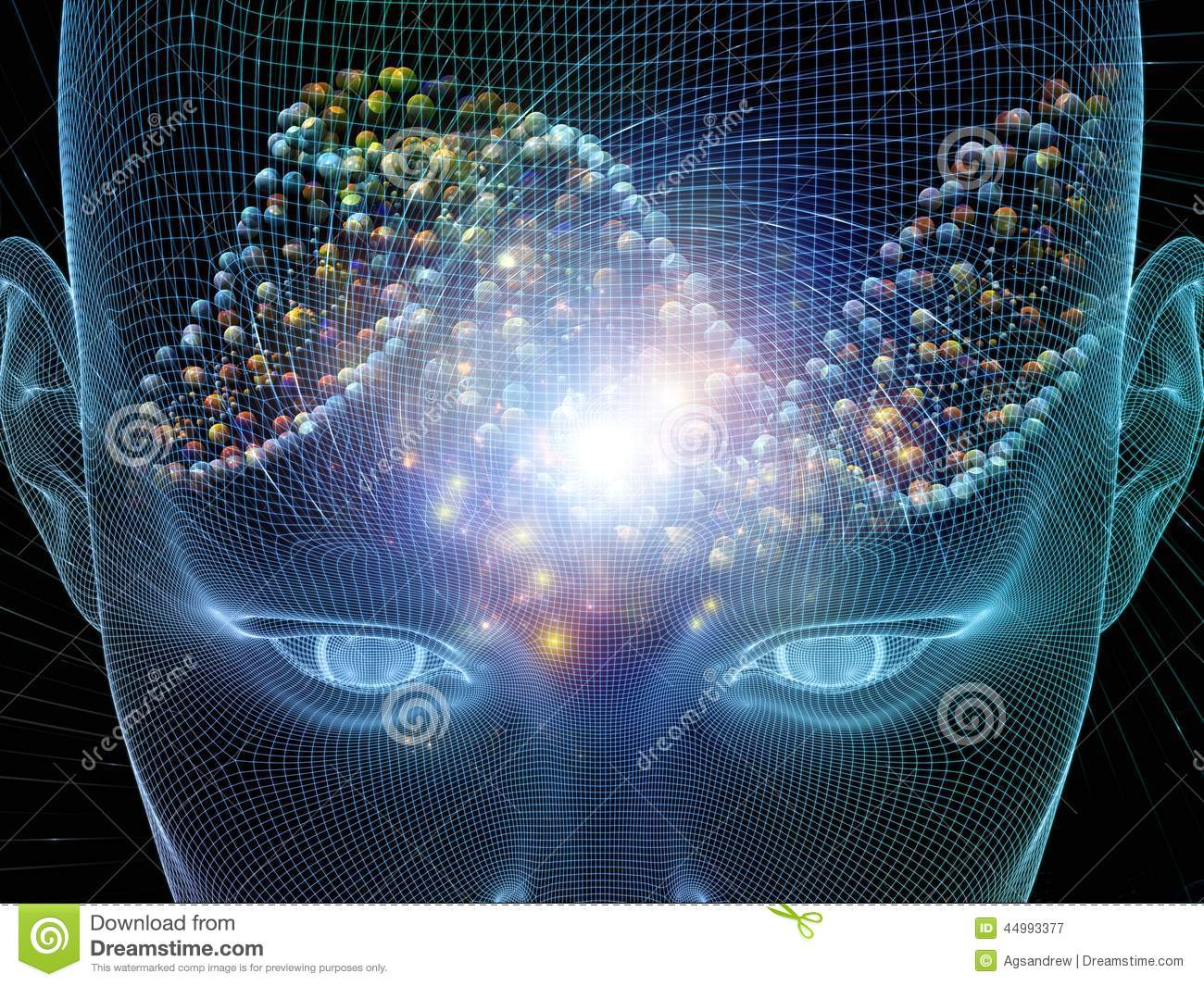 Mind Stream stock illustration. Illustration of illuminate - 44993377