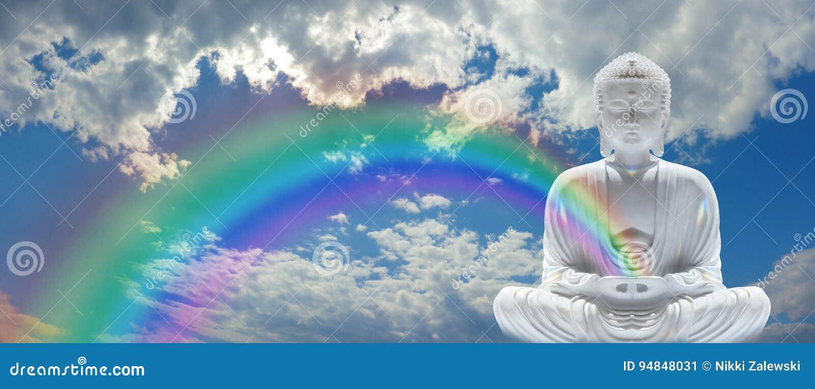 Mindfulness tęcza Buddha