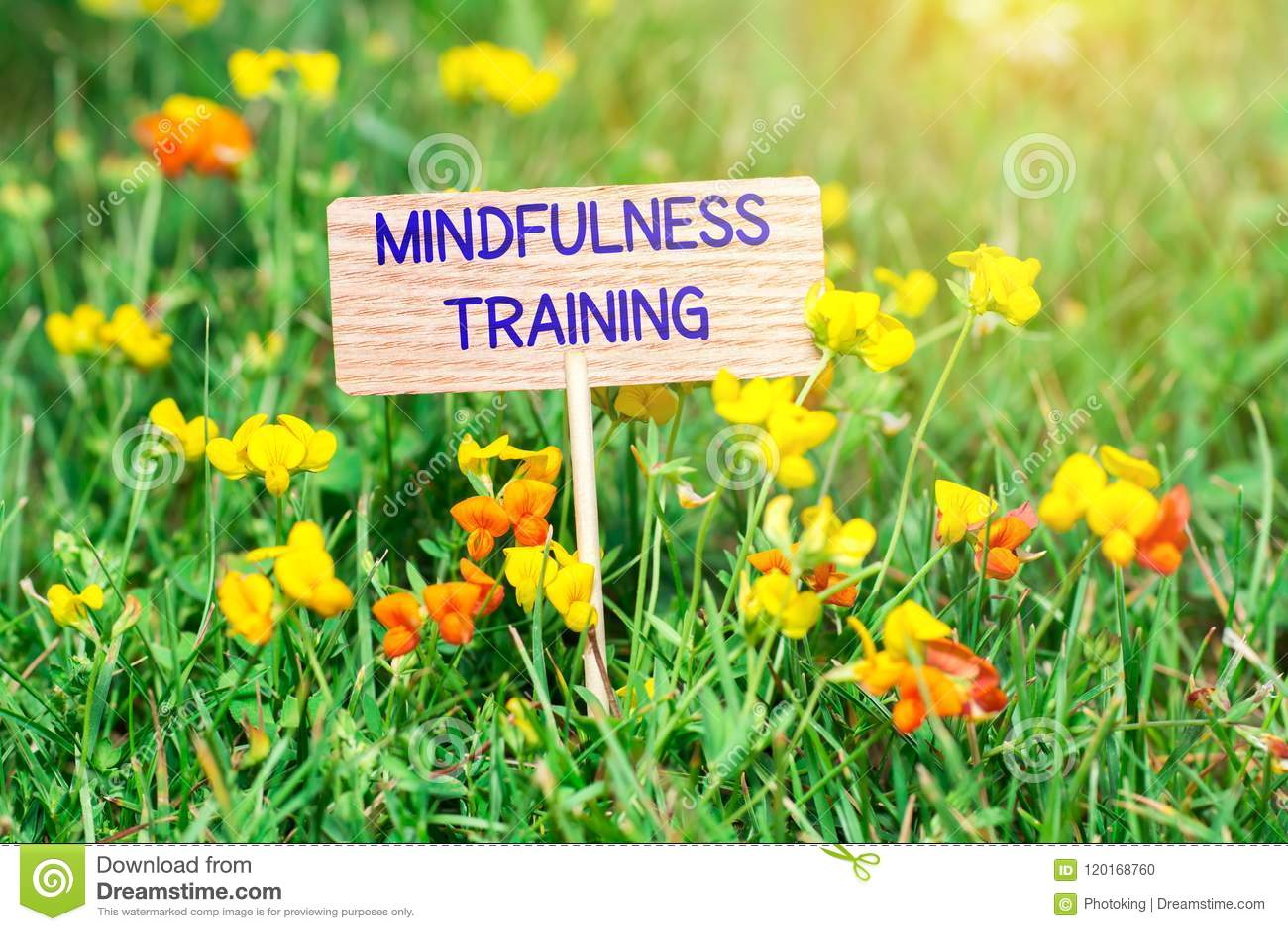 Mindfulnesstrainingsschild