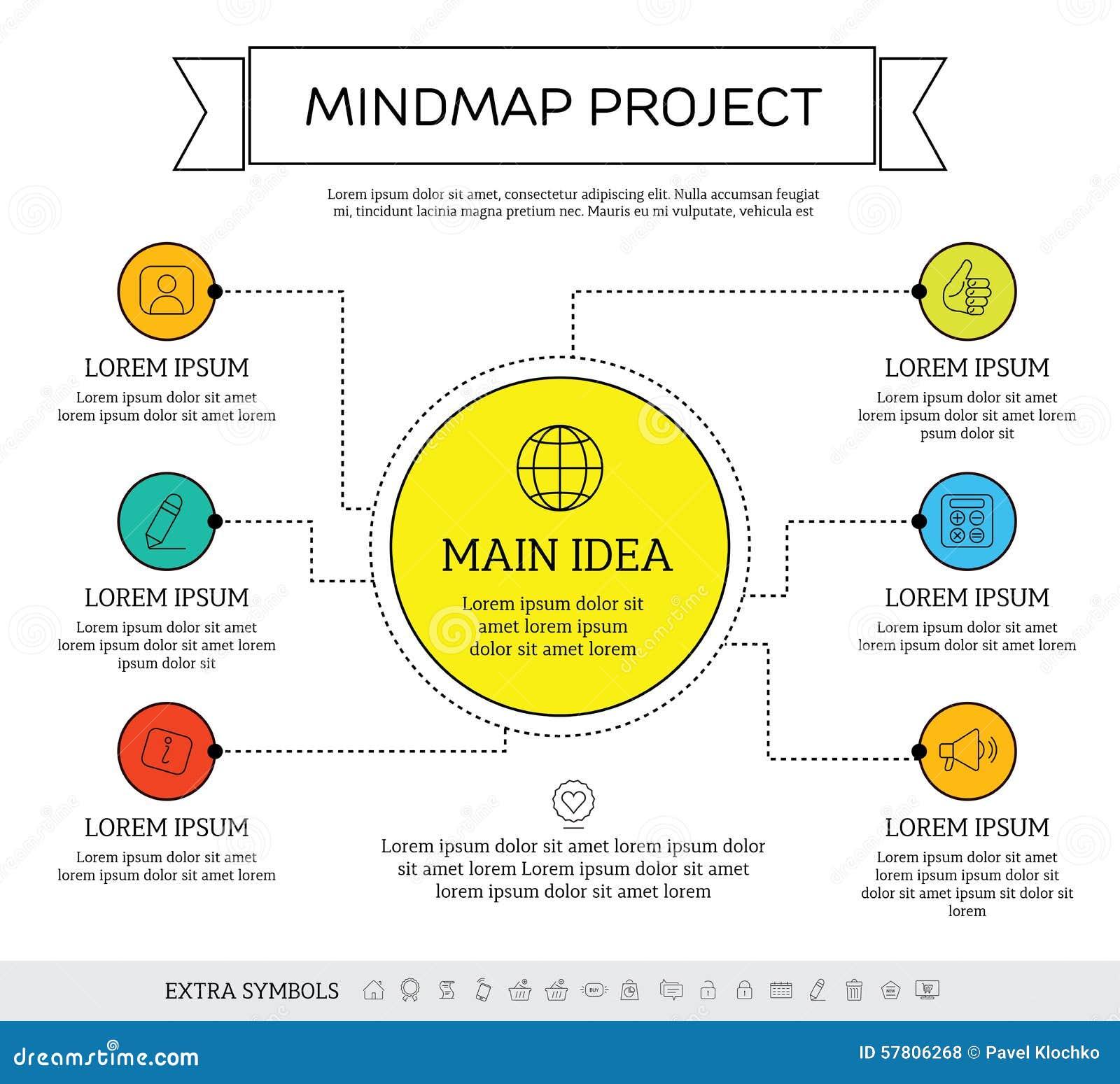 Mindmap Scheme Infographic Design Concept Stock Vector