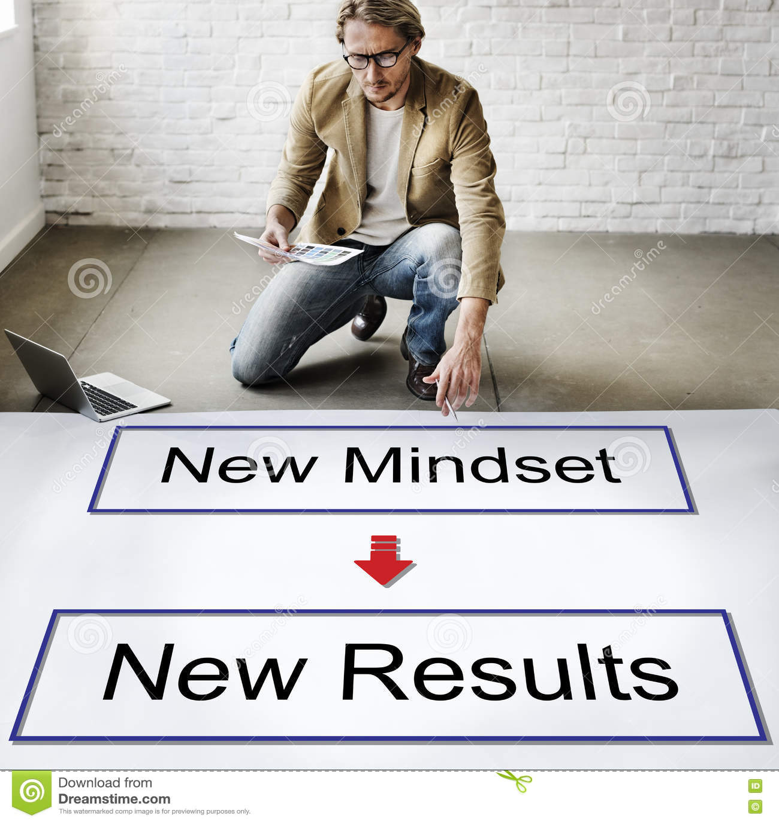 Mindset oposto ao conceito de pensamento da negatividade da positividade