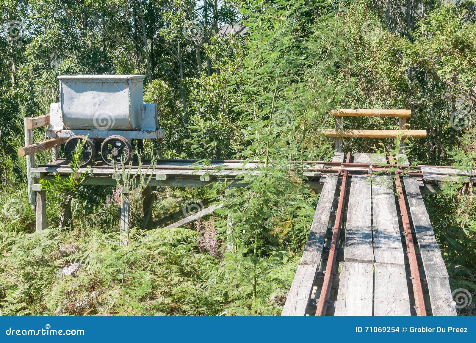Mine-cart And Track At Bendigo Gold Mine Stock Photo - Image of cape