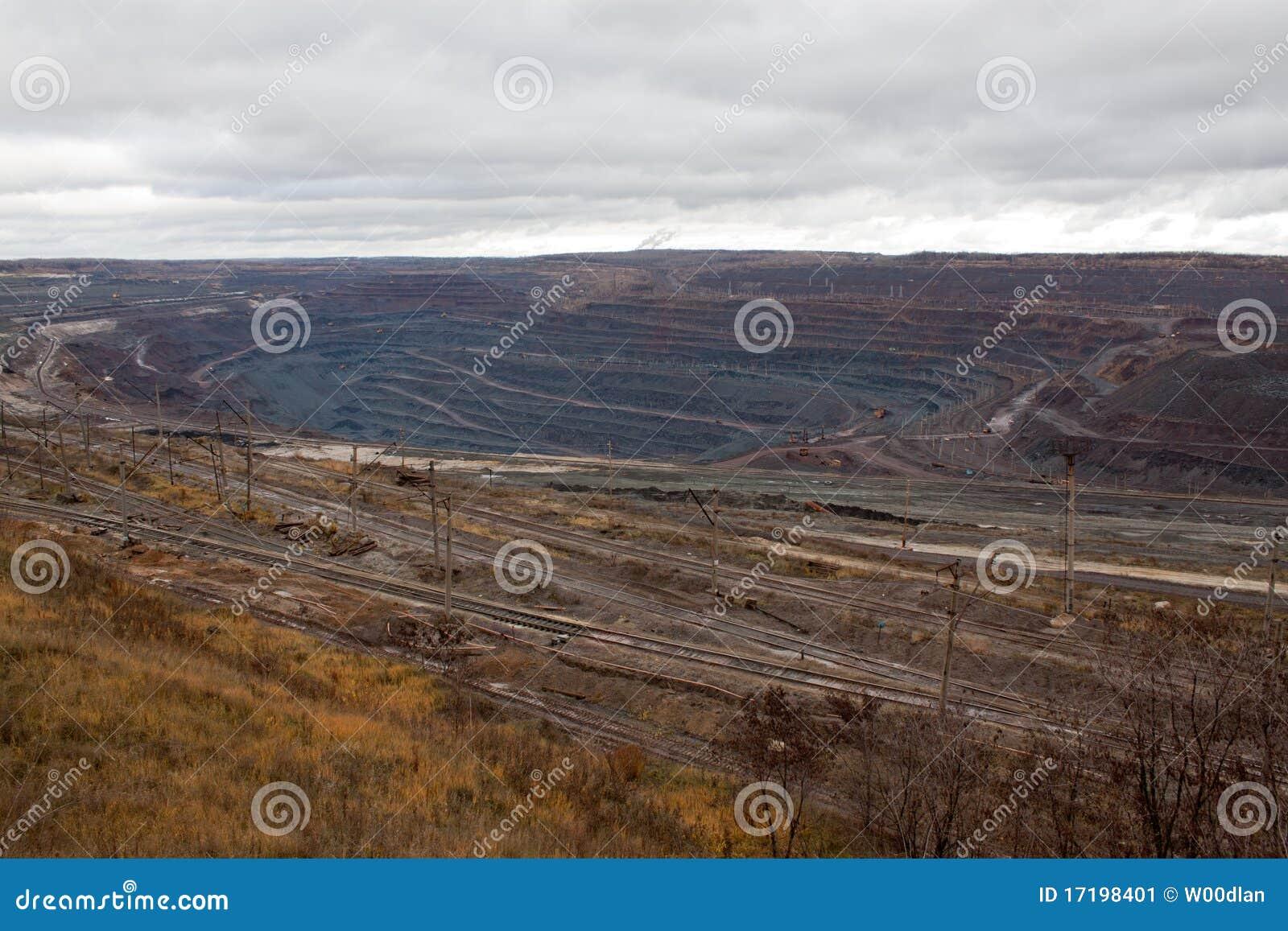Mine de minerai de fer