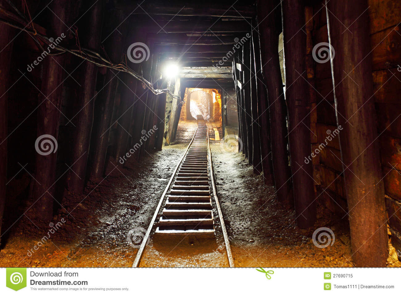 mine with railroad track