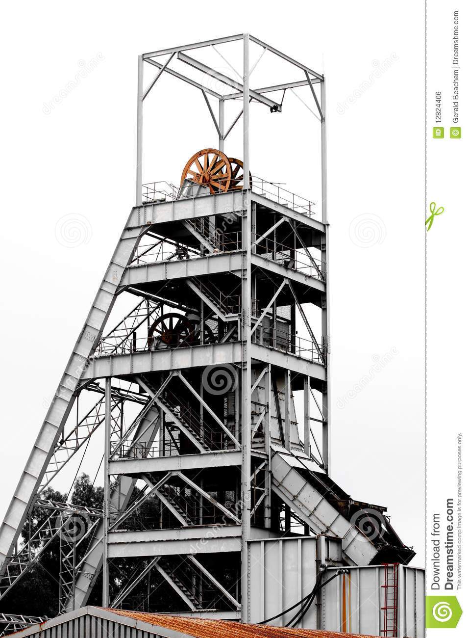 Mine Shaft Stock Photo  Image Of Gear  Gold  Cage  Retro