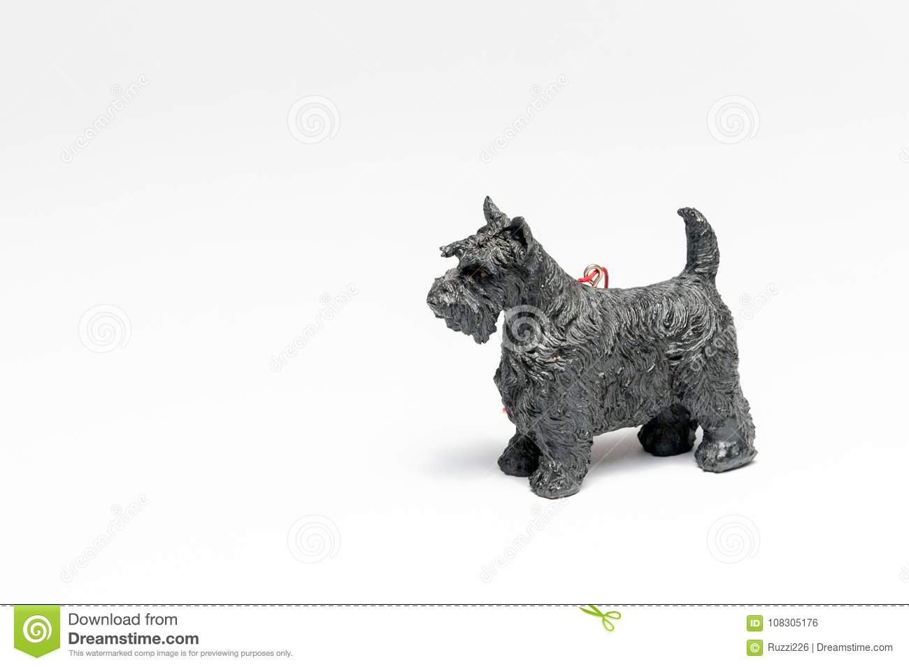 Mineature Black Schnauser Christmas Tree Ornament Stock Photo