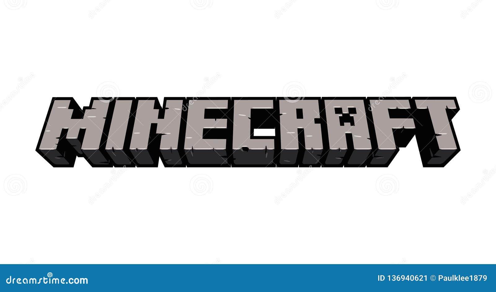 Minecraft Redakcyjna Wektorowa ilustracja