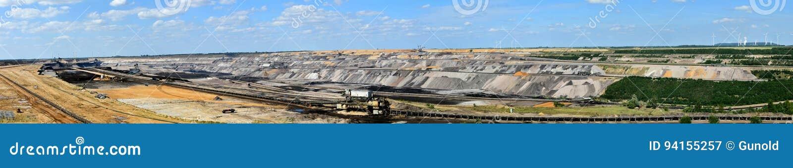 Mineração opencast de carvão de Brown
