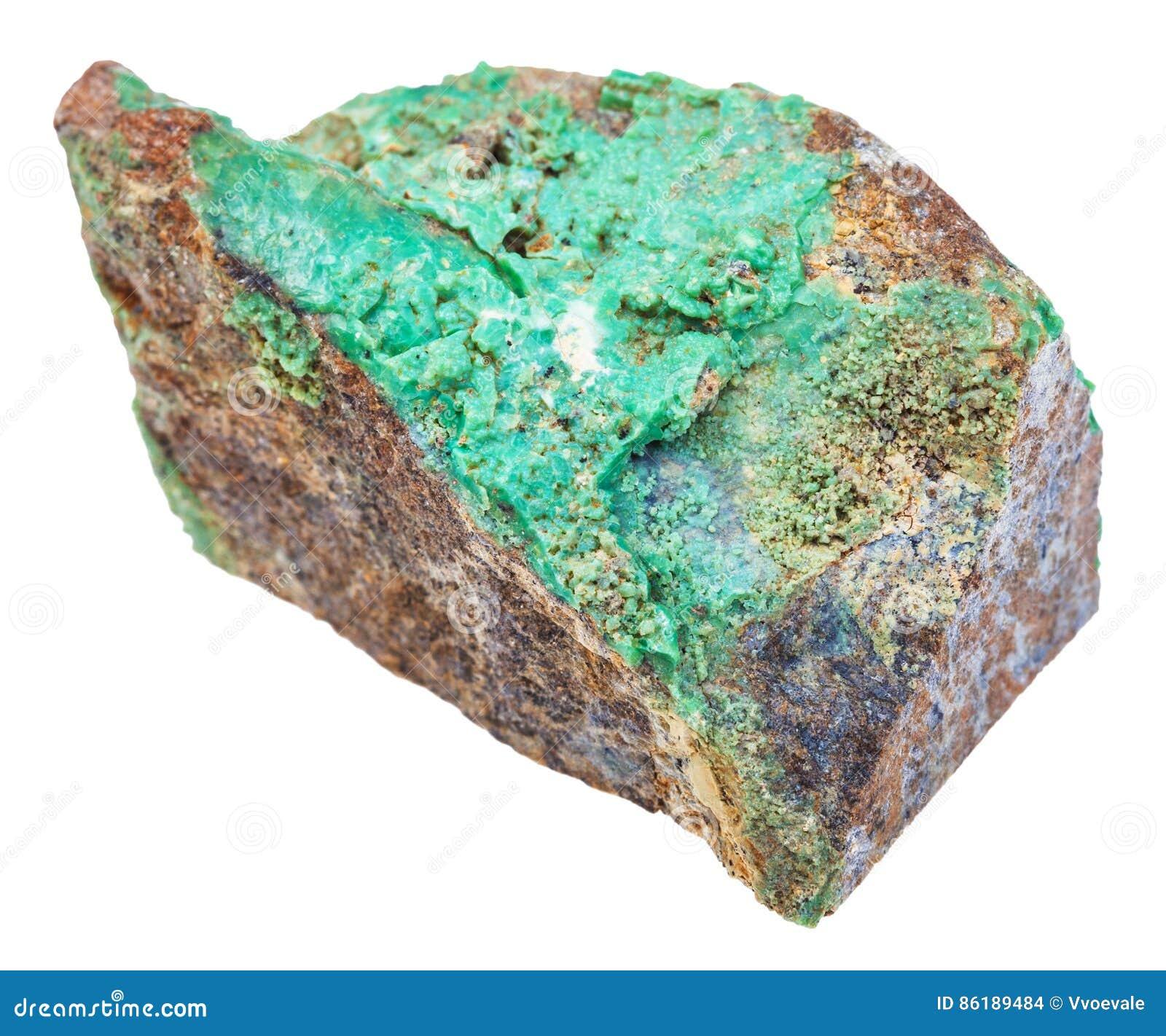 minerai de nickel vert de pierre de garnierite d 39 isolement photo stock image du normal. Black Bedroom Furniture Sets. Home Design Ideas