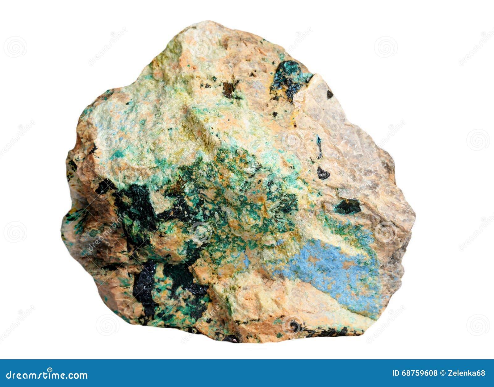 Minerais de cuivre - lazurite, azurite, malachite