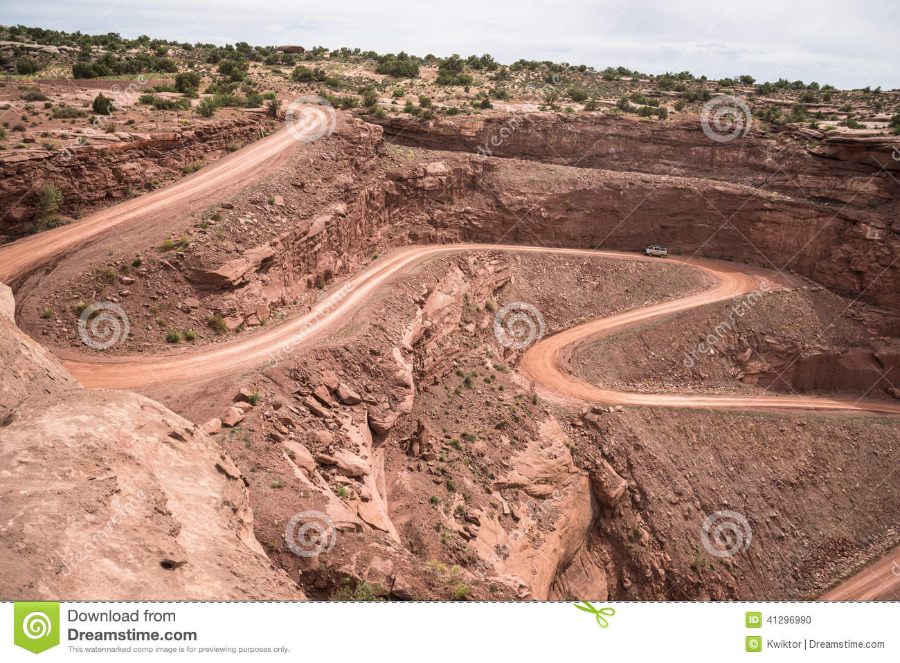 Mineral bottom switchbacks dirt road stock photo image for Minerals in dirt