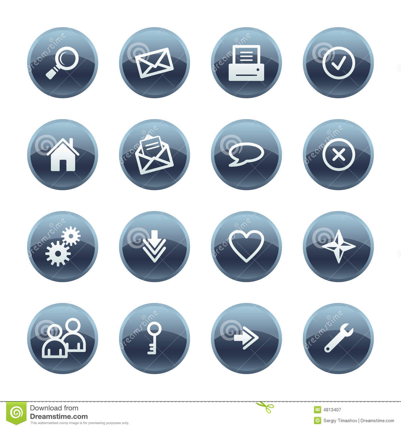 Mineral drop web icons