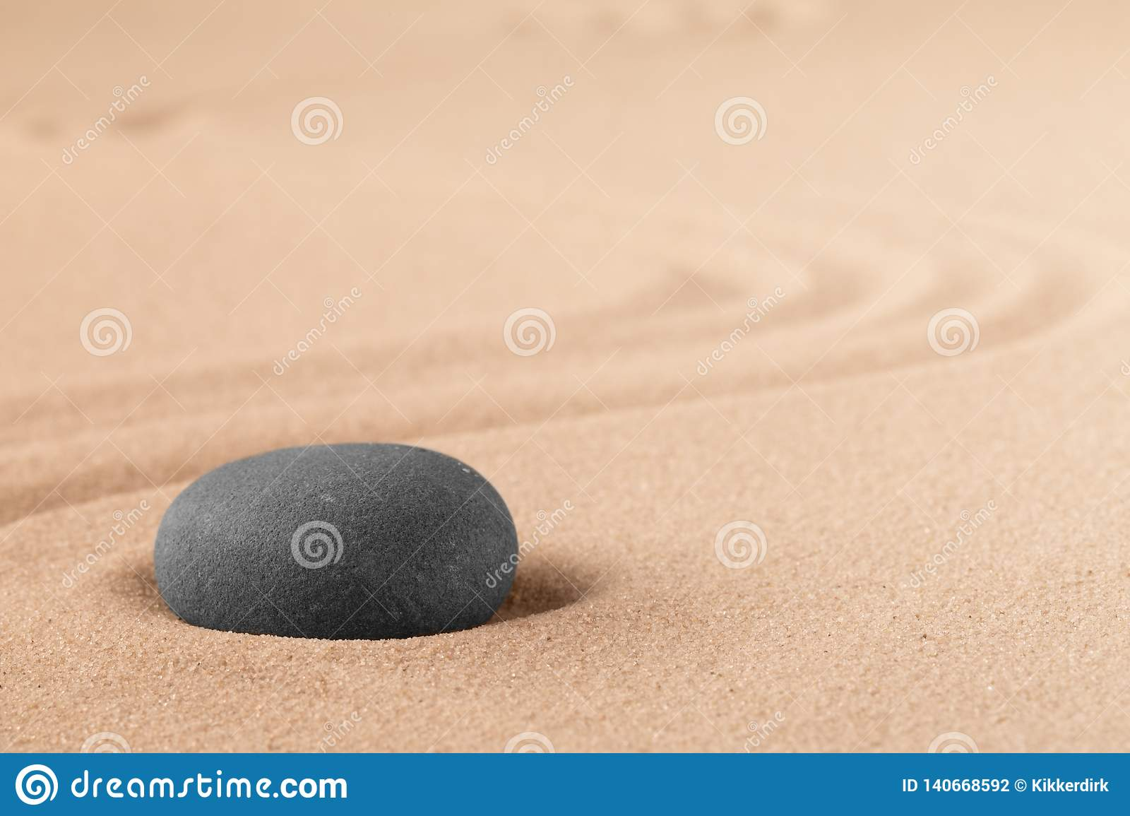 Mineral stone therapy for a quit peace of mind through zen meditation and relaxation