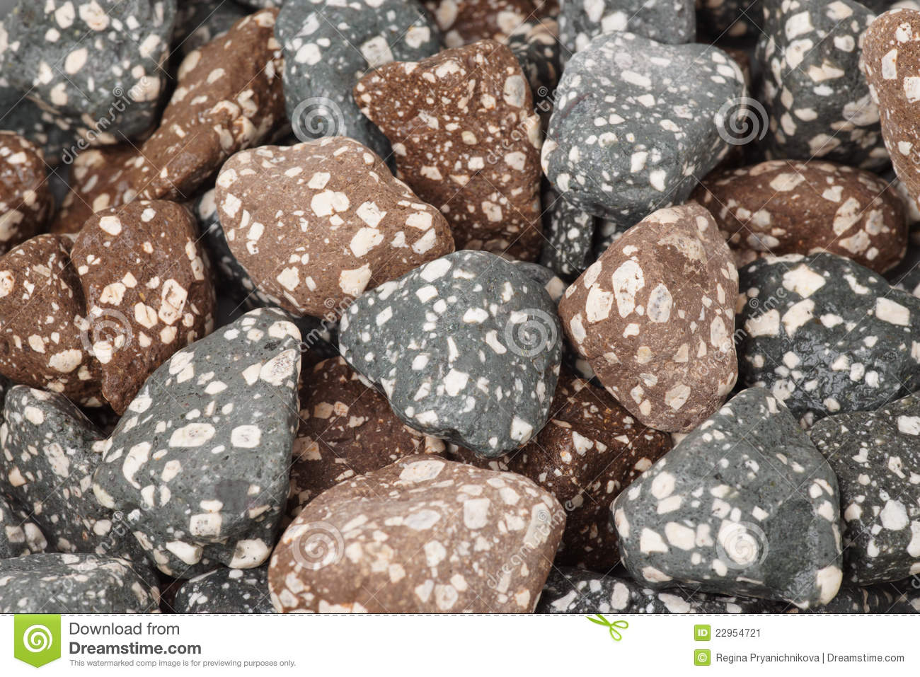 Mineral Stones Used In Water Purifying Systems Stock Image