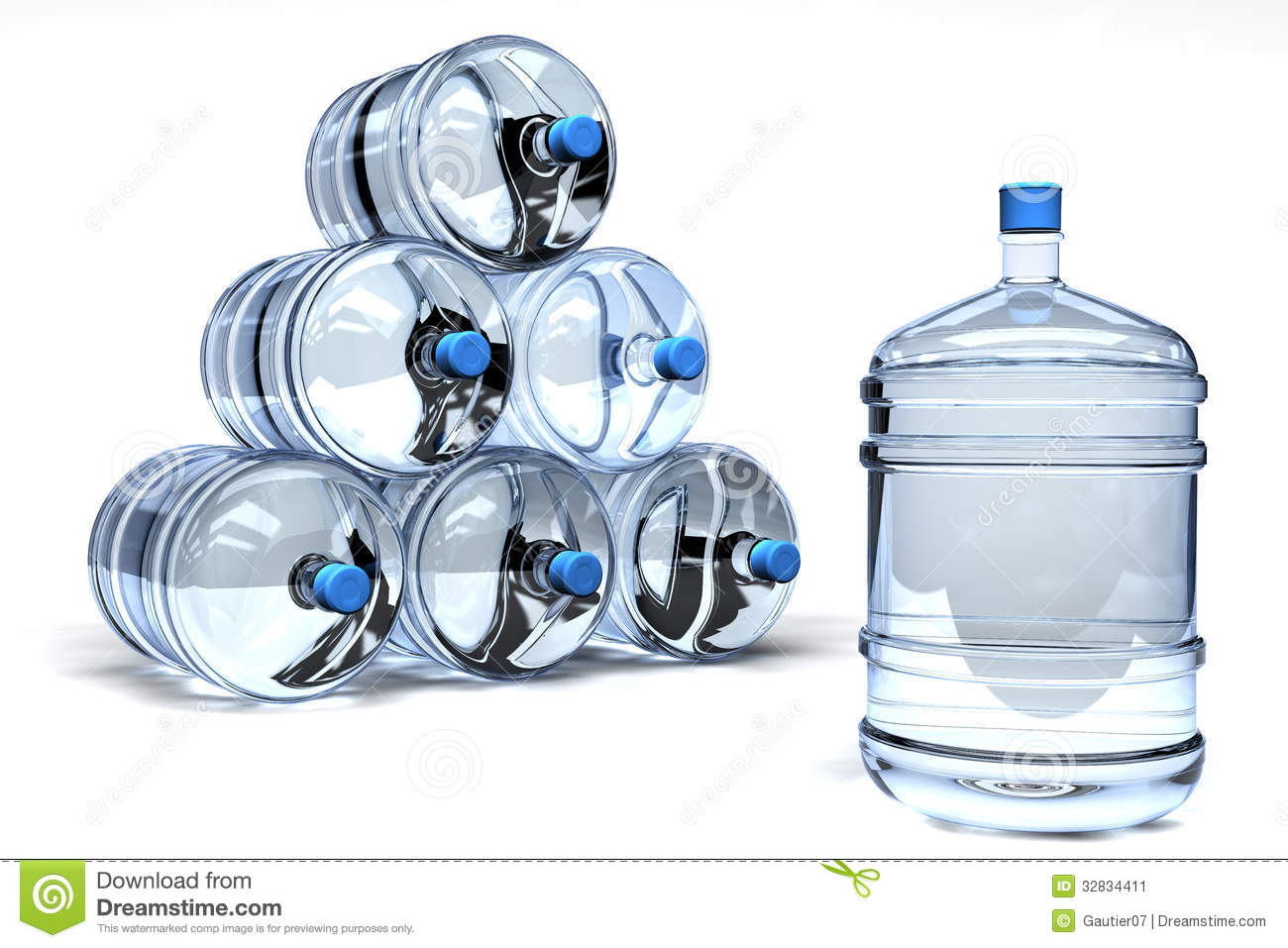 Mineral water containers stock illustration. Image of bulk ...