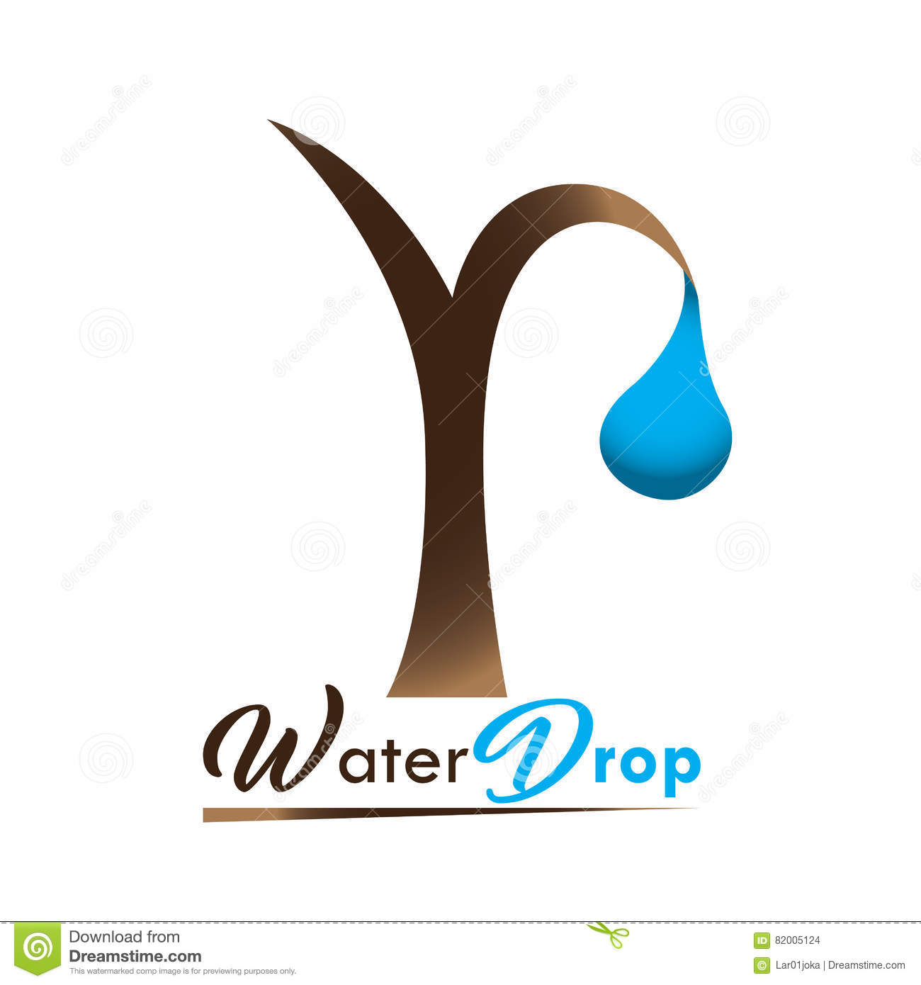 Mineral Water Logo Stock Vector Illustration Of Nature 82005124