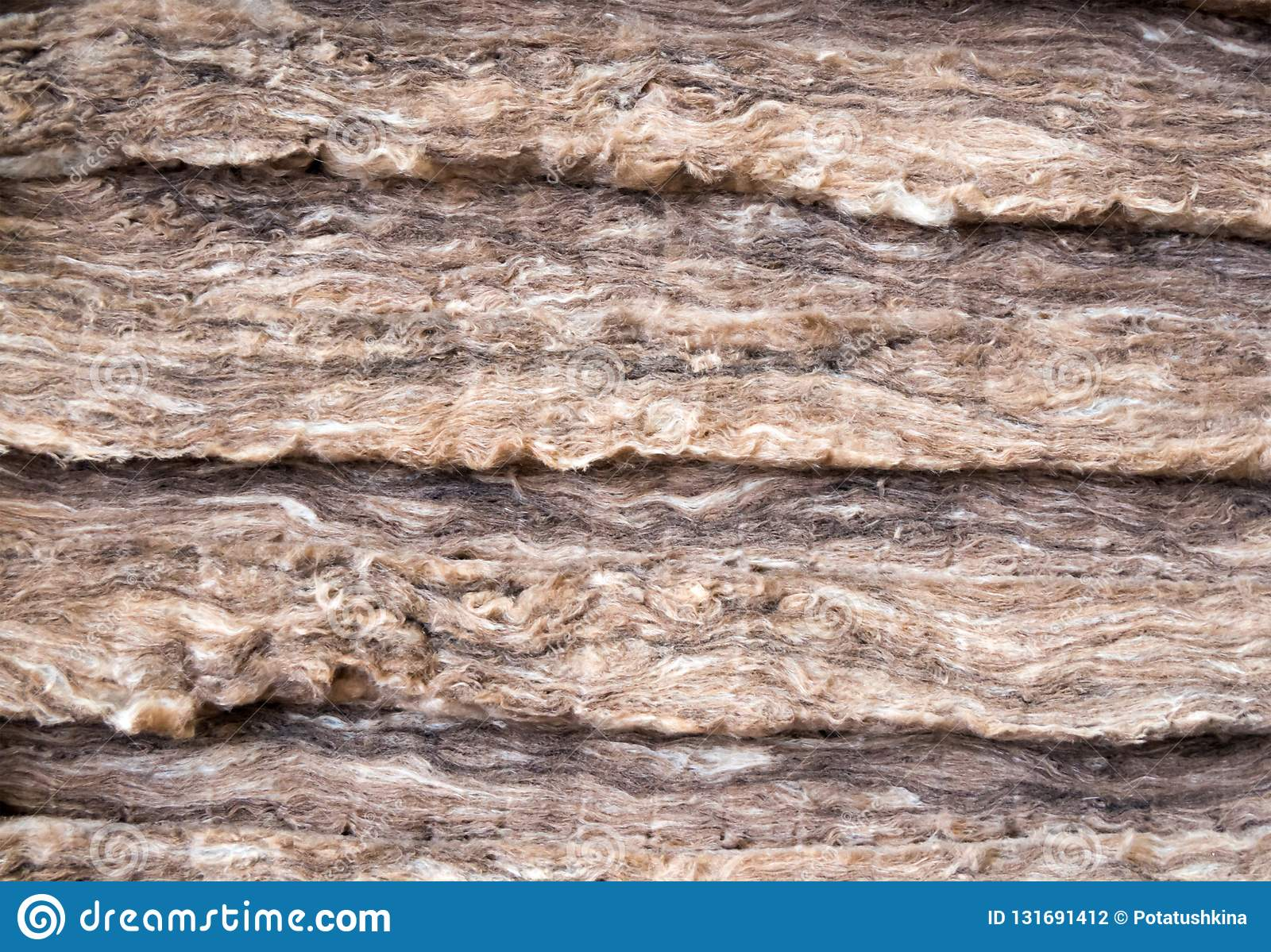 Mineral wool stacked in several layers