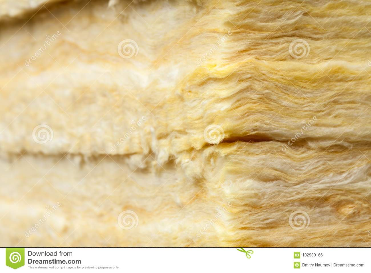 Mineral wool thermal insulation batts close up stock photo for Cost of mineral wool vs fiberglass insulation