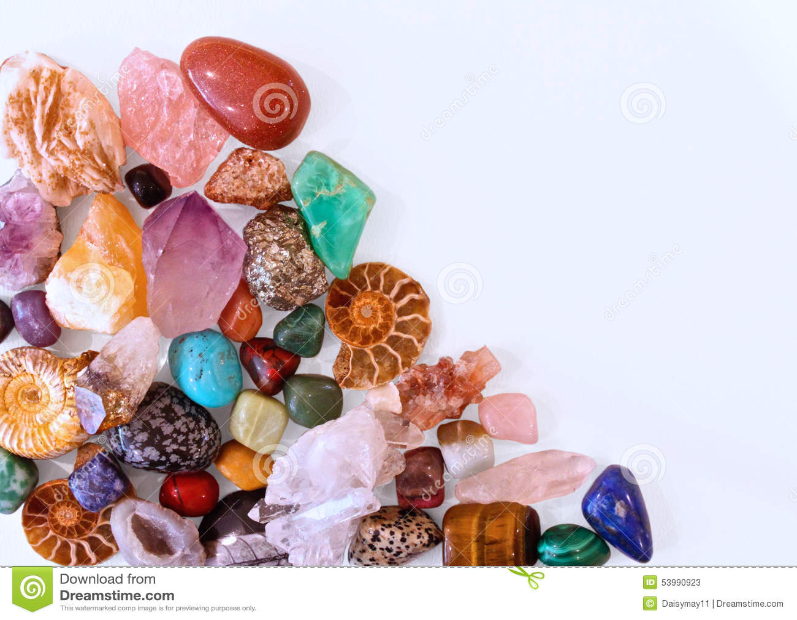 Minerals Crystals And Semi Precious Stones Stock Image