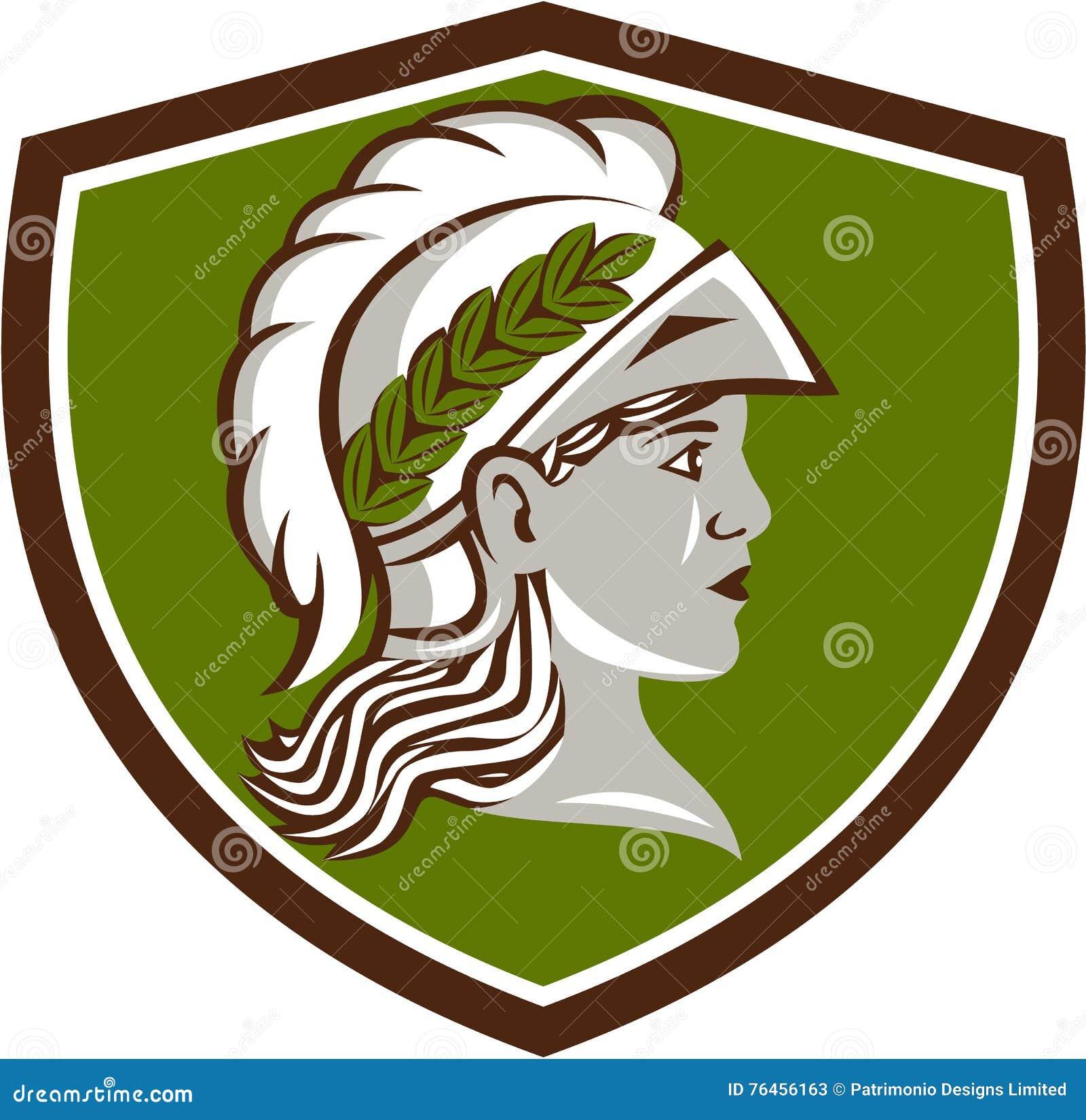 Minerva Head Crest Retro stock illustration  Illustration of