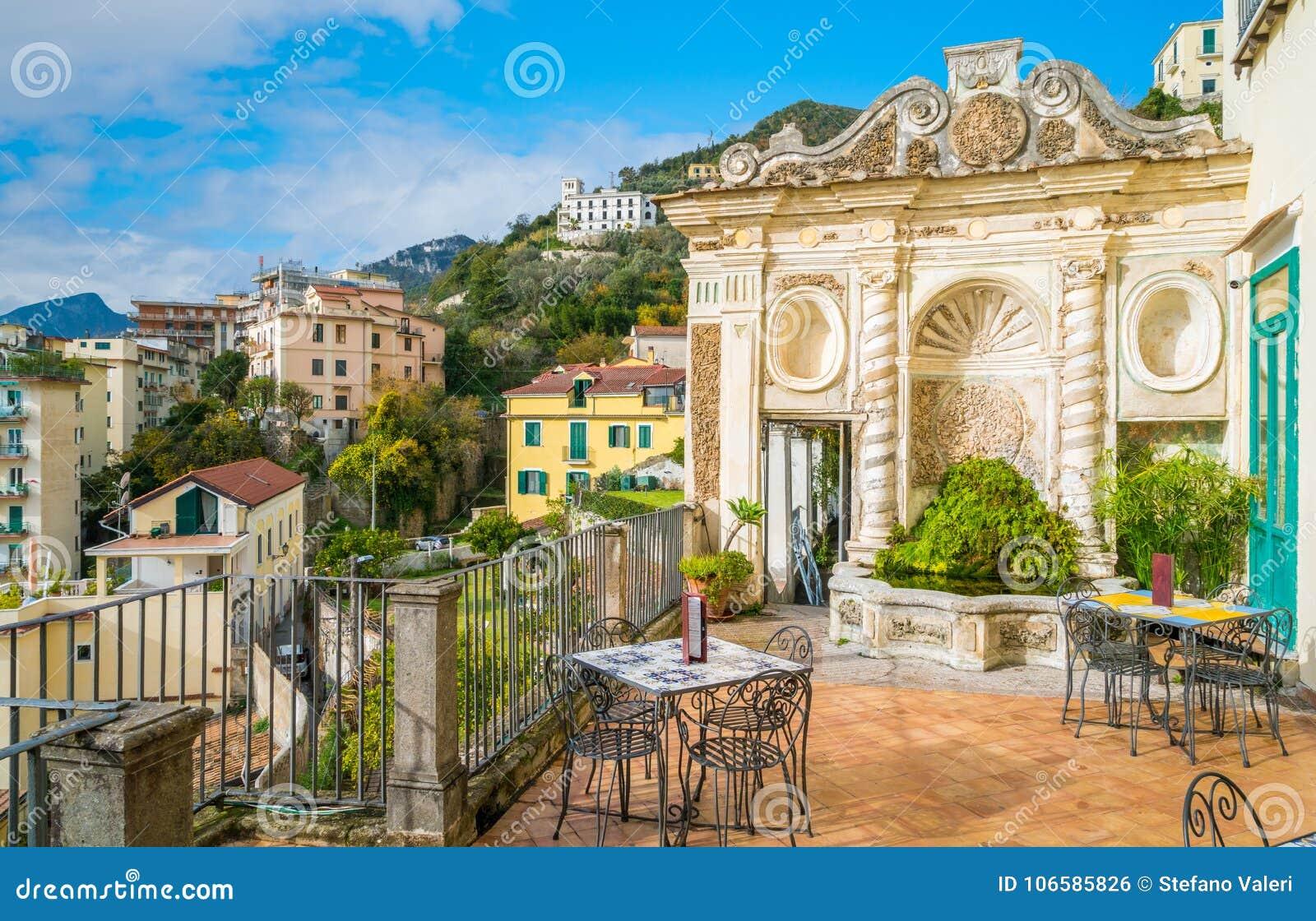 Minerva-` s Garten in Salerno, Kampanien, Italien
