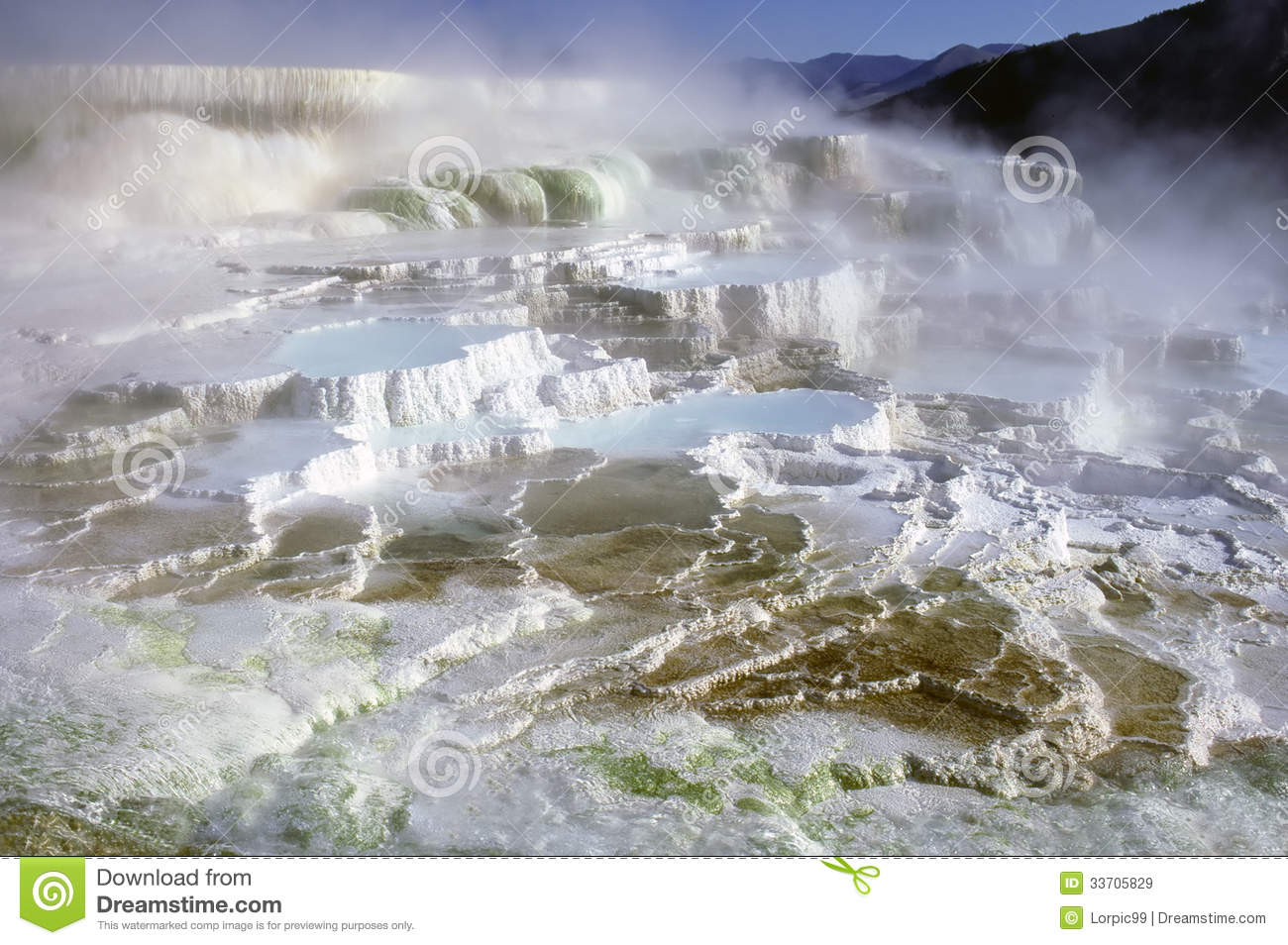 Minerva terrace royalty free stock images image 33705829 for Minerva terrace yellowstone