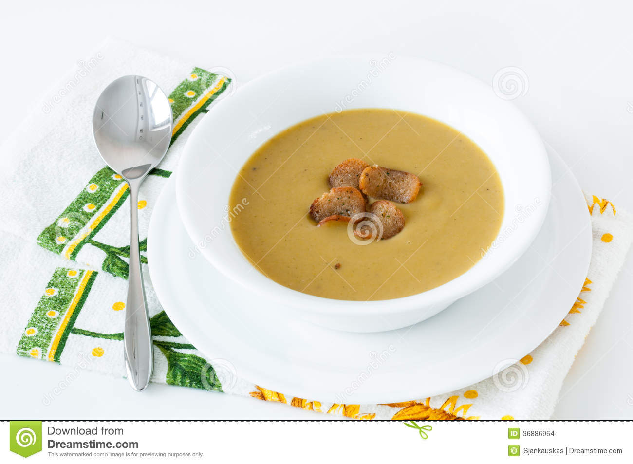 Download Minestra Crema Dei Broccoli Fotografia Stock - Immagine di caloria, cremoso: 36886964