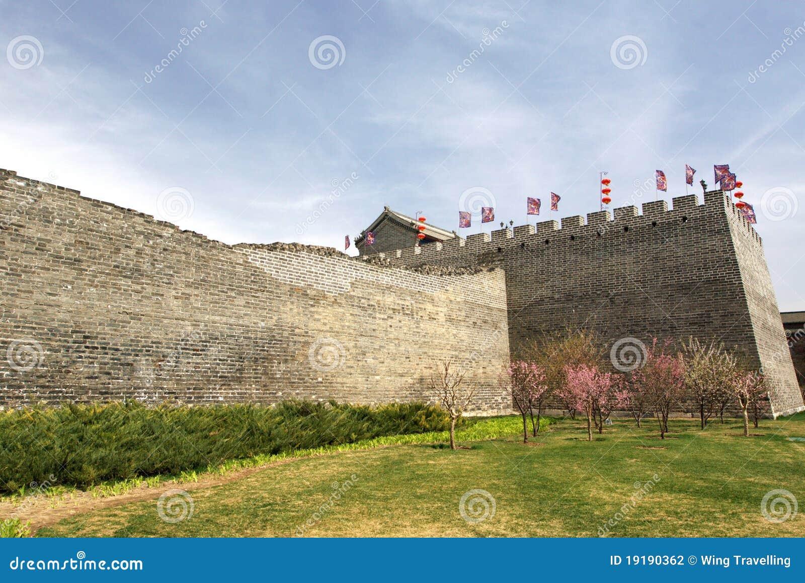 Ming Dynastie-Wand-Relikt-Park in Peking