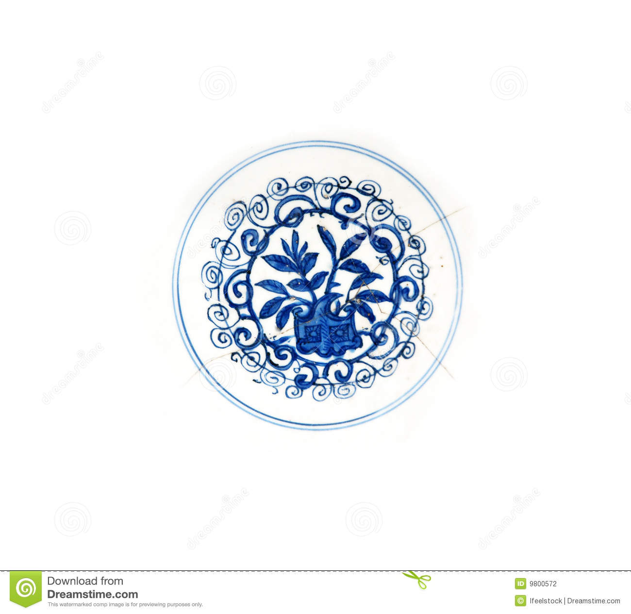 blue ming plate detail