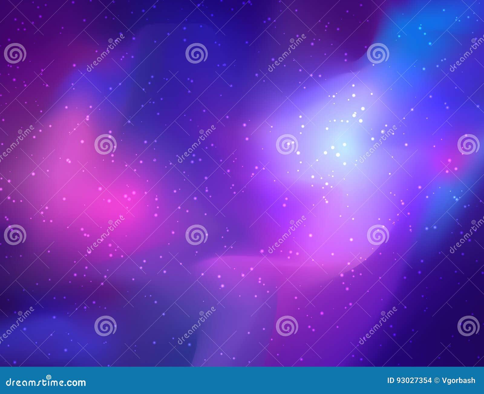 Minha galáxia Ilustração colorida brilhante do cosmos do vetor com sacre
