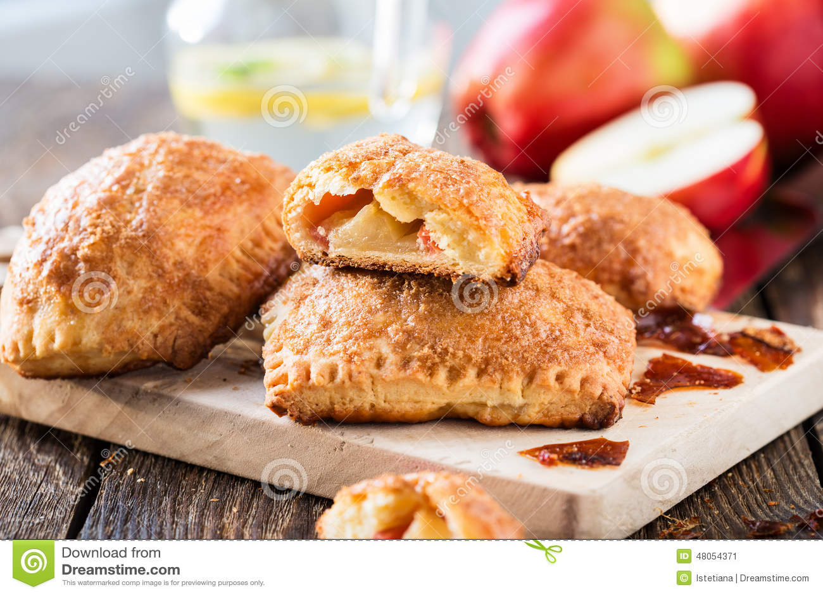 Mini Apple Cinnamon Strudel Stock Photo - Image: 48054371