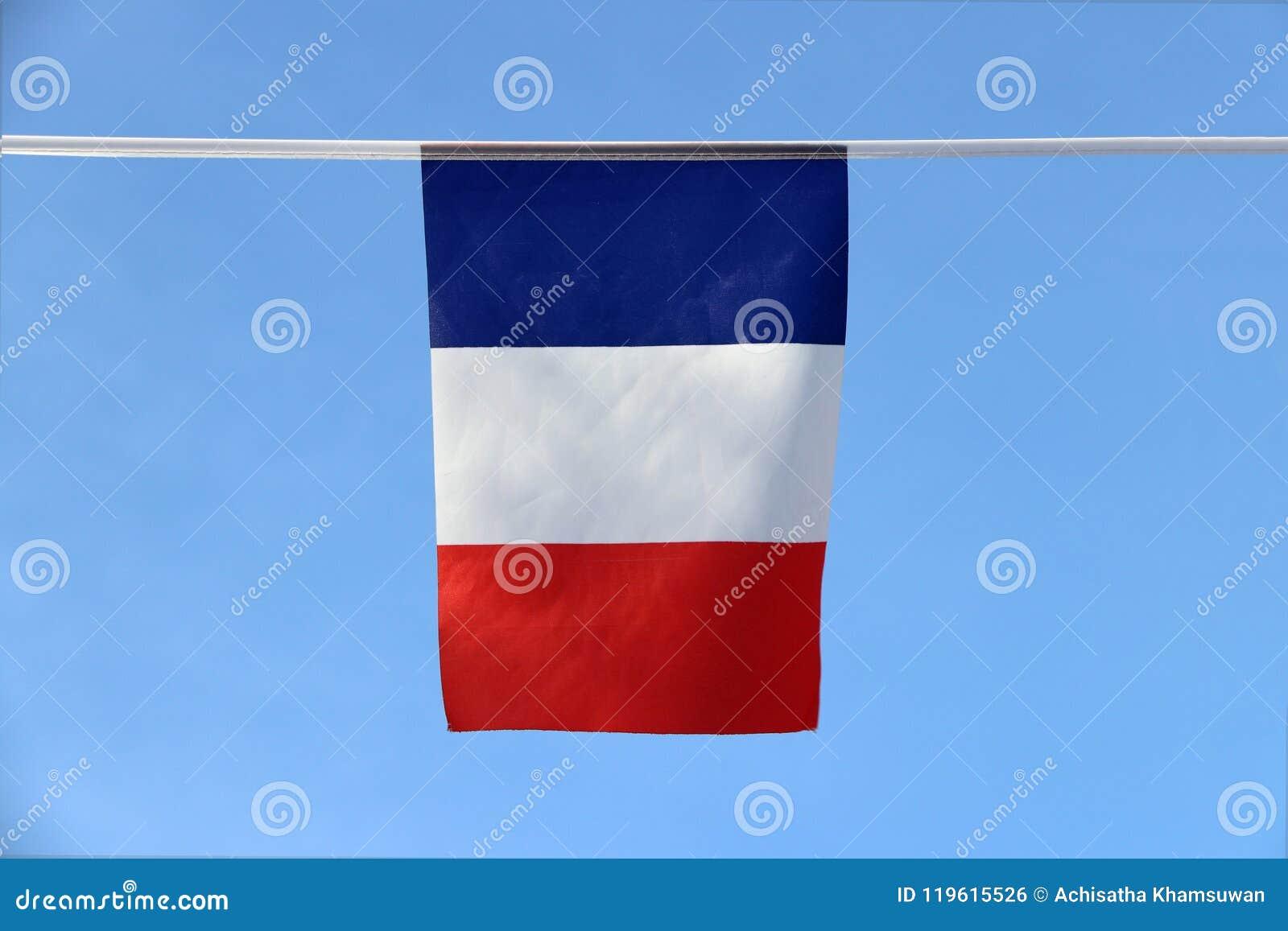 Mini Bandera Del Carril De La Tela De Francia Es Una Bandera ...
