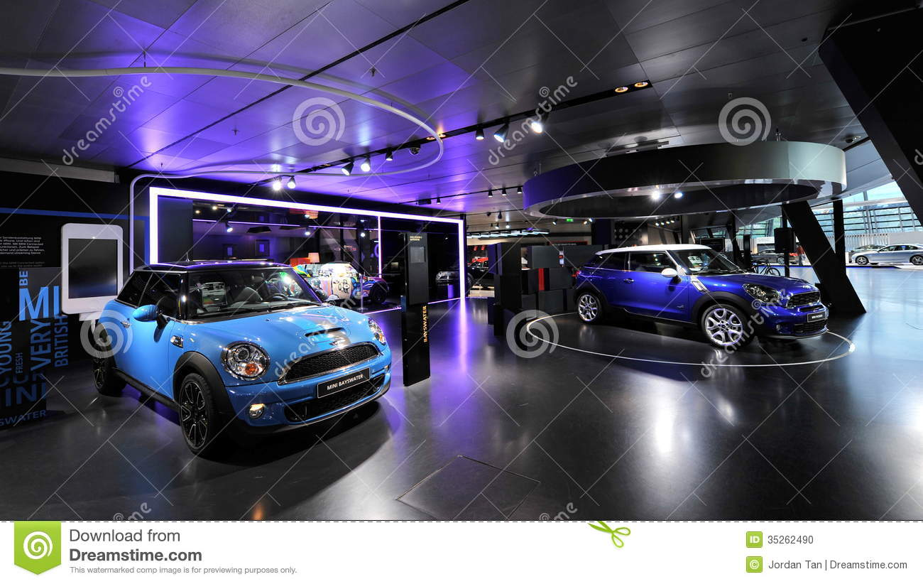 Mini Bayswater And Paceman On Display In Bmw Welt Editorial Image Image 35262490