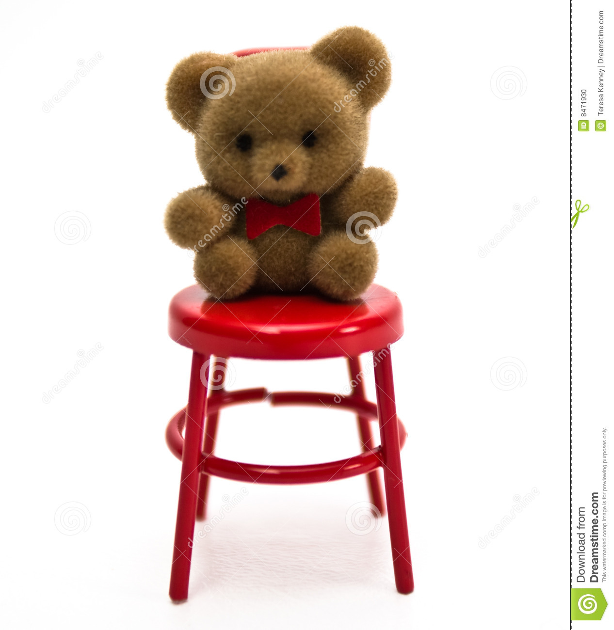 mini bear on chair stock photo image 8471930. Black Bedroom Furniture Sets. Home Design Ideas