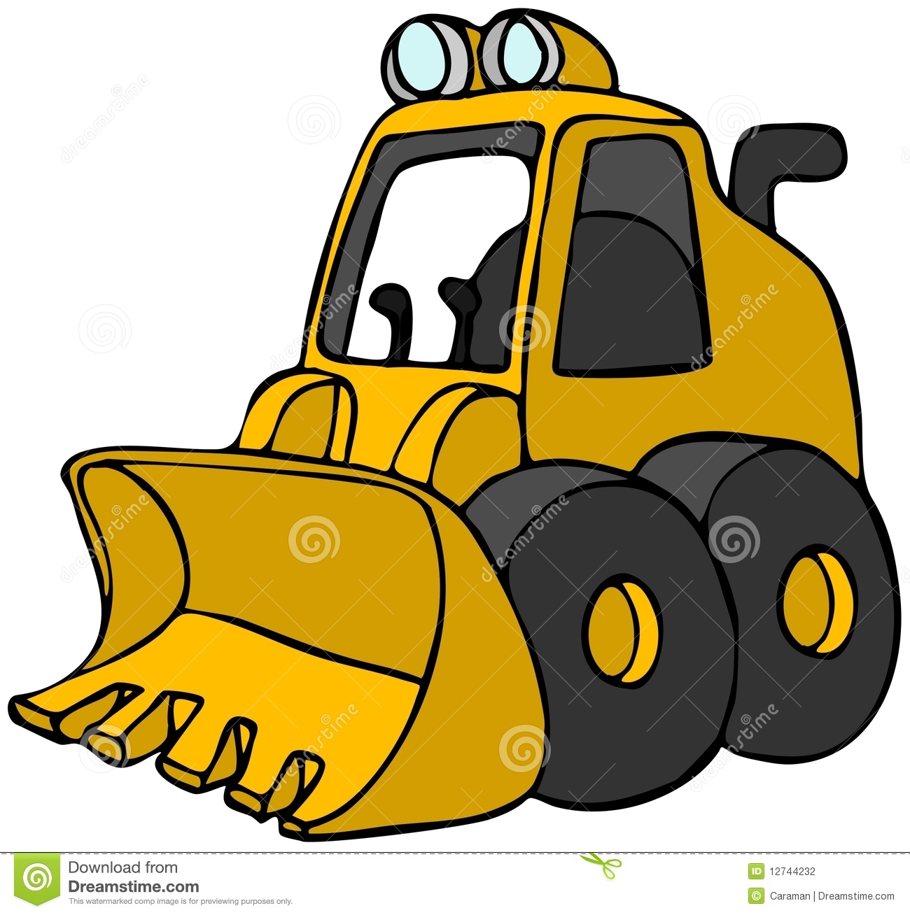 Mini Bulldozer Stock Photography - Image: 12744232