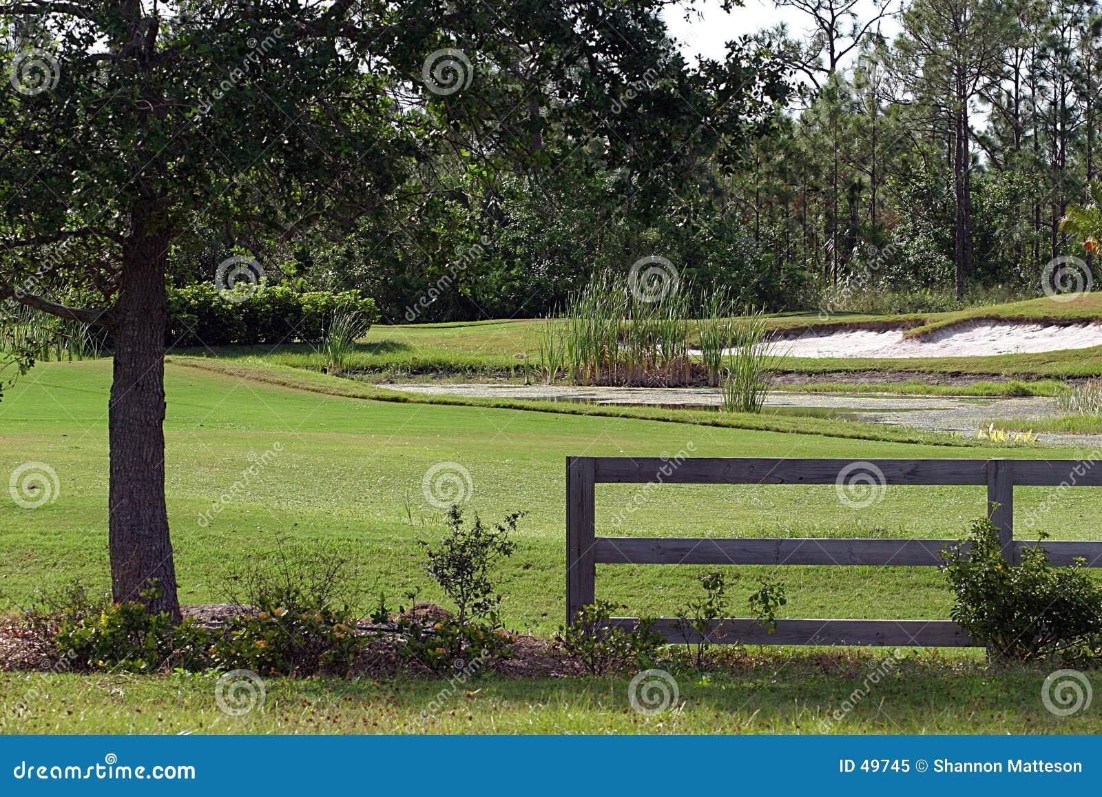 Mini campo de golfe