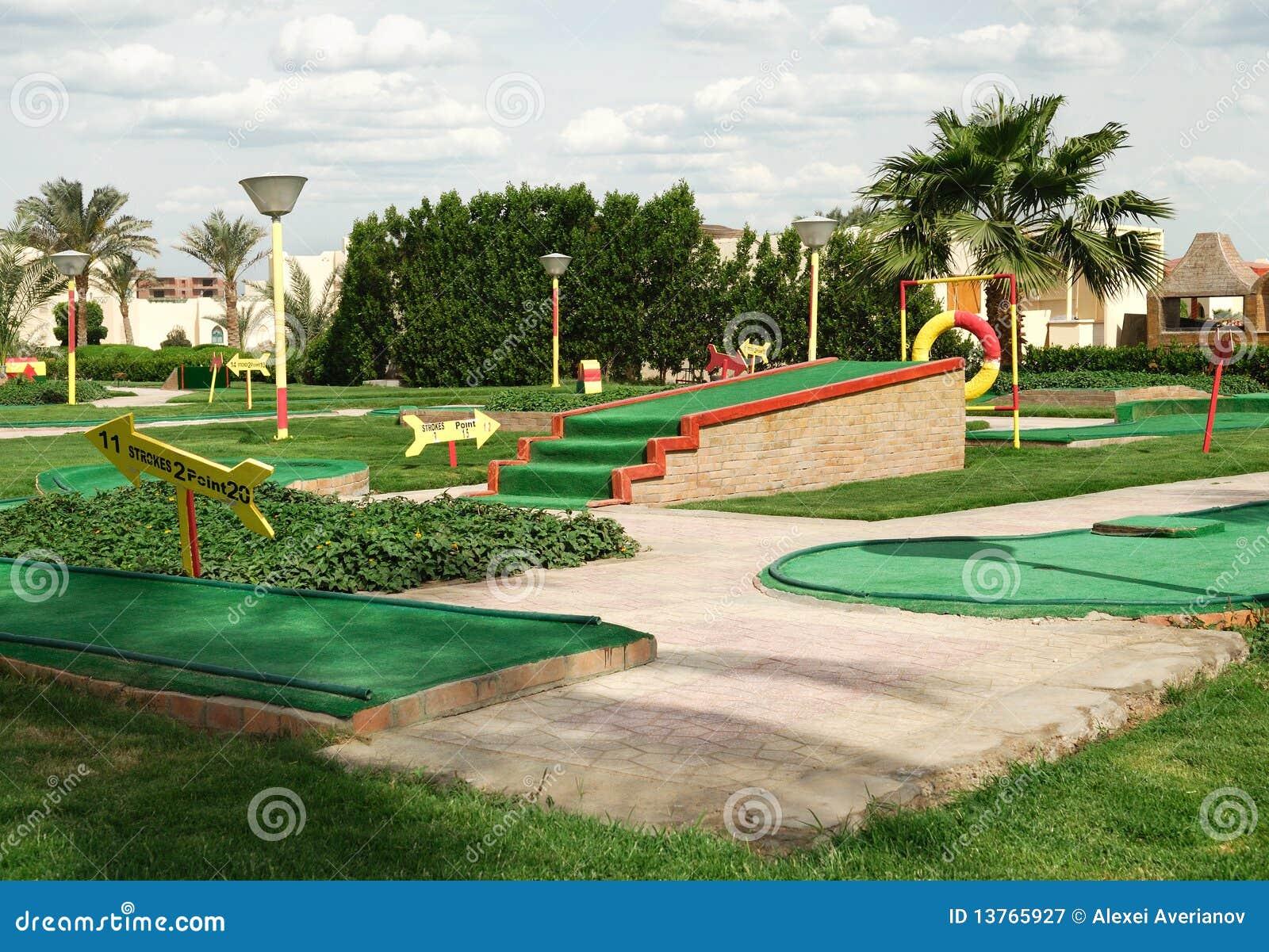 Mini campo del golf