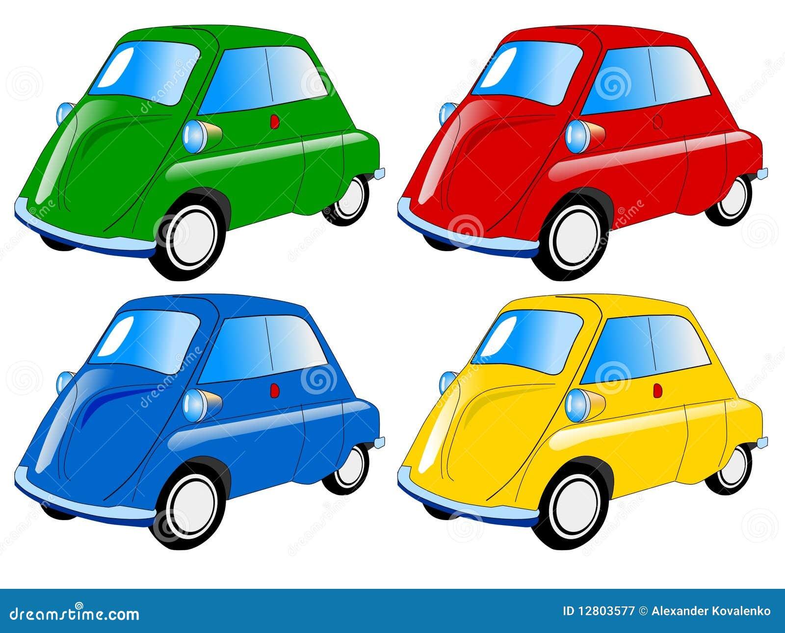 Mini carros coloridos