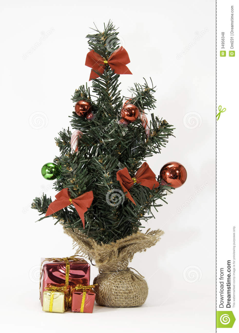 Tiny christmas tree ornaments - Mini Christmas Tree With Wrapped Gifts