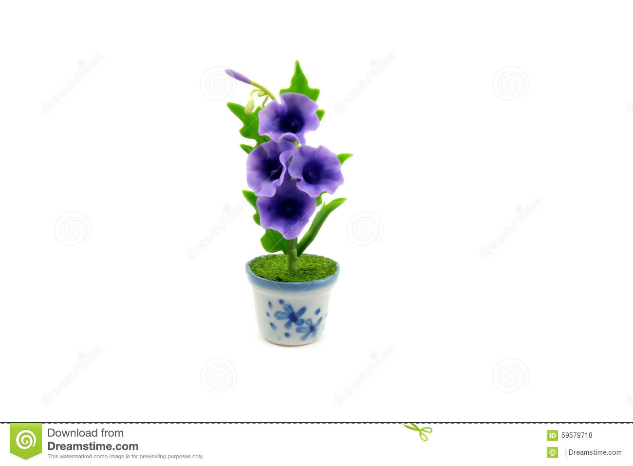 Mini clay flower in the pot stock photo image 59579718 for Small clay flower pots
