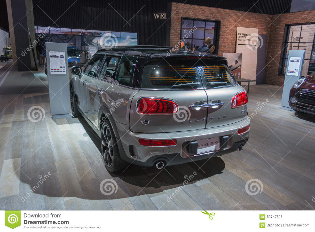 Mini clubman on display editorial stock photo image of for Dream motors los angeles