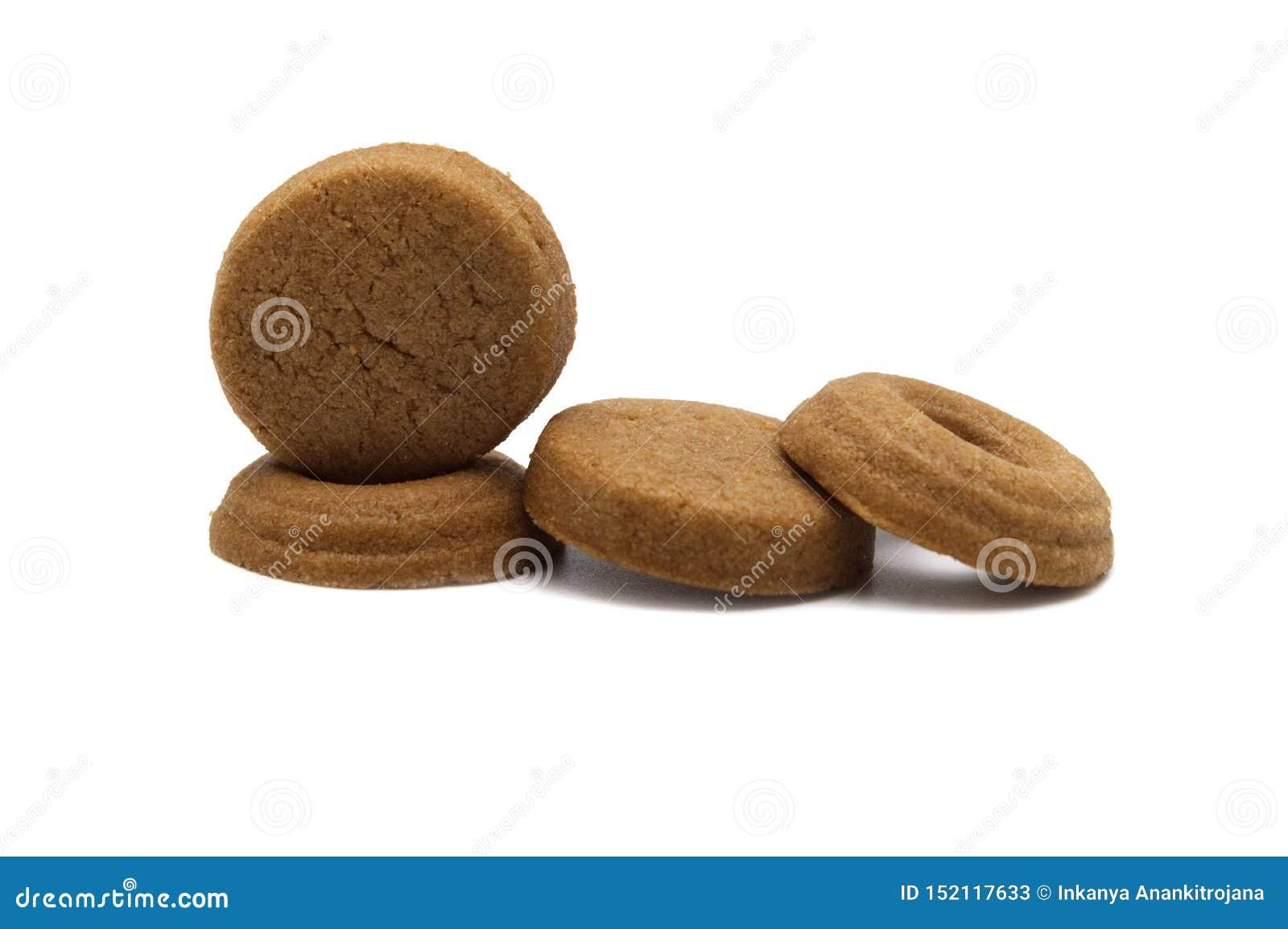 Mini cookies Chocolate malt flavored.