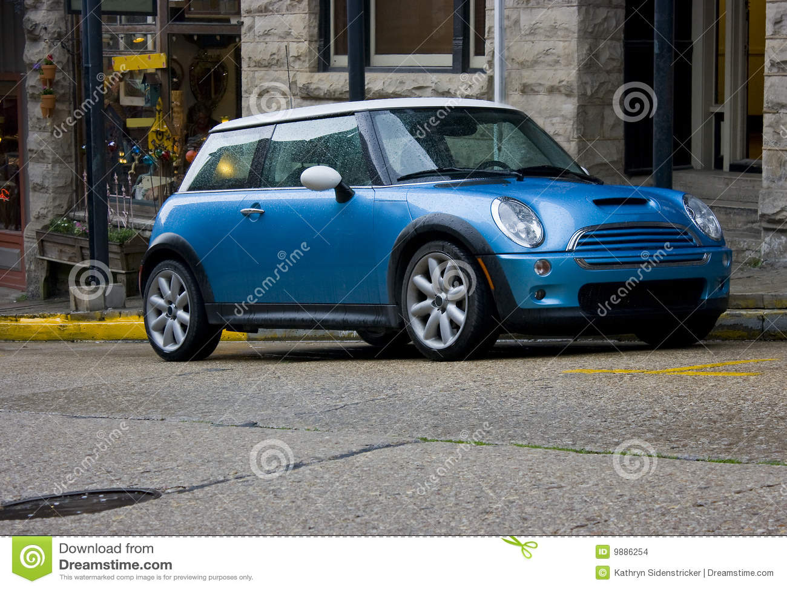Mini Cooper azul