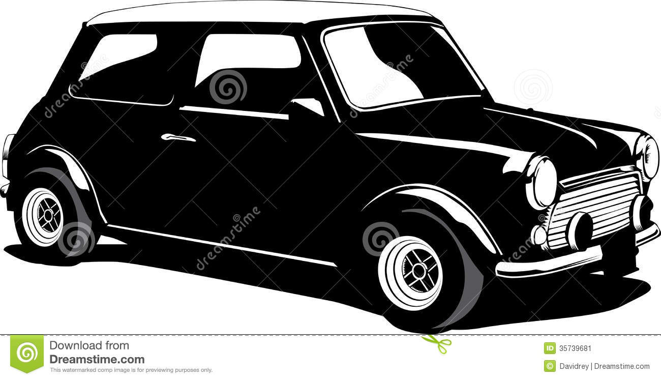 mini cooper stock vector illustration of cooper small 35739681. Black Bedroom Furniture Sets. Home Design Ideas
