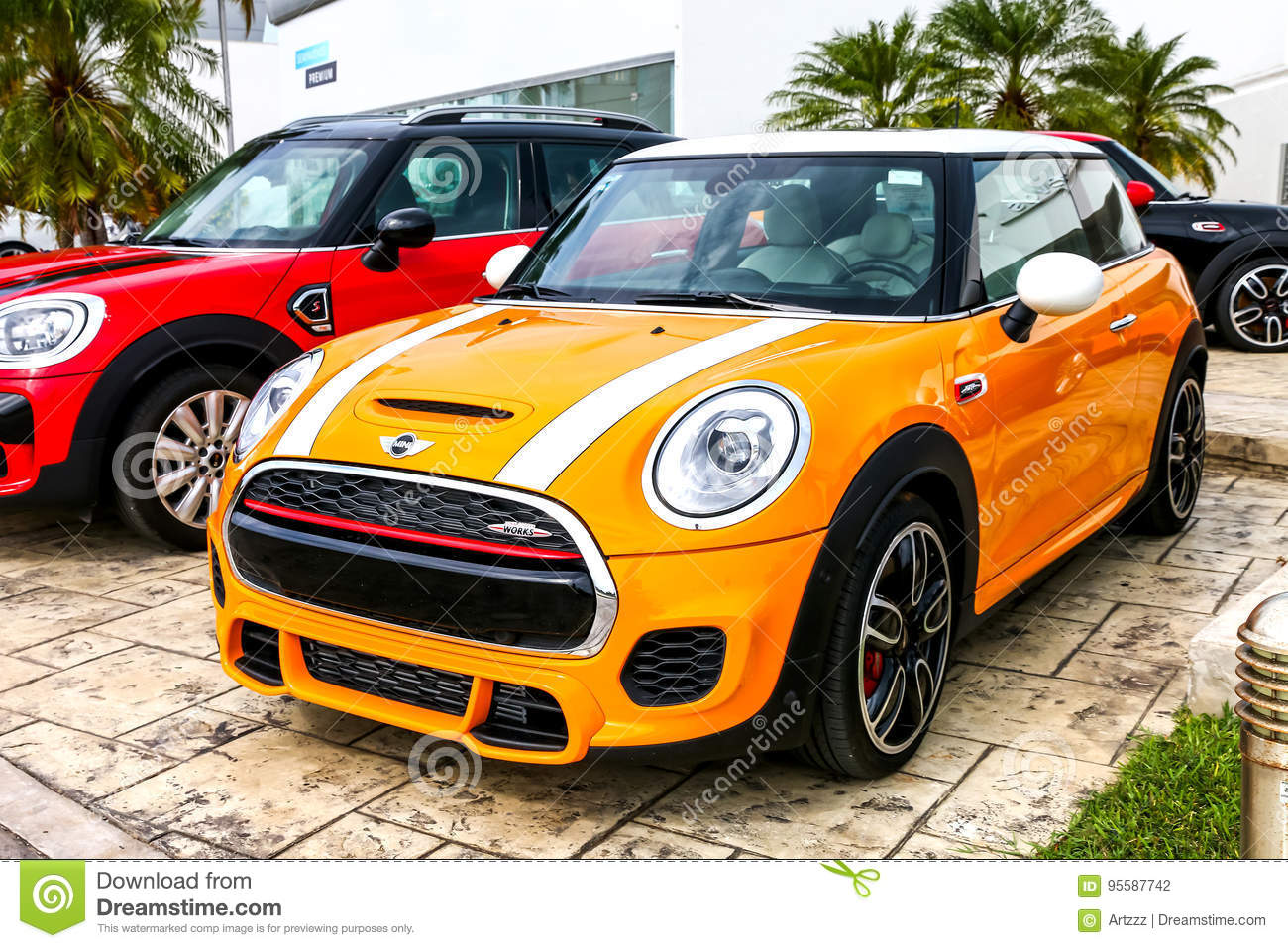 mini cooper editorial photography. image of modified - 95587742