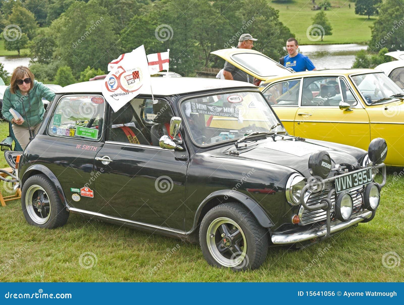 Mini Cooper Classic Car At Ripley Castle Editorial Photo Image