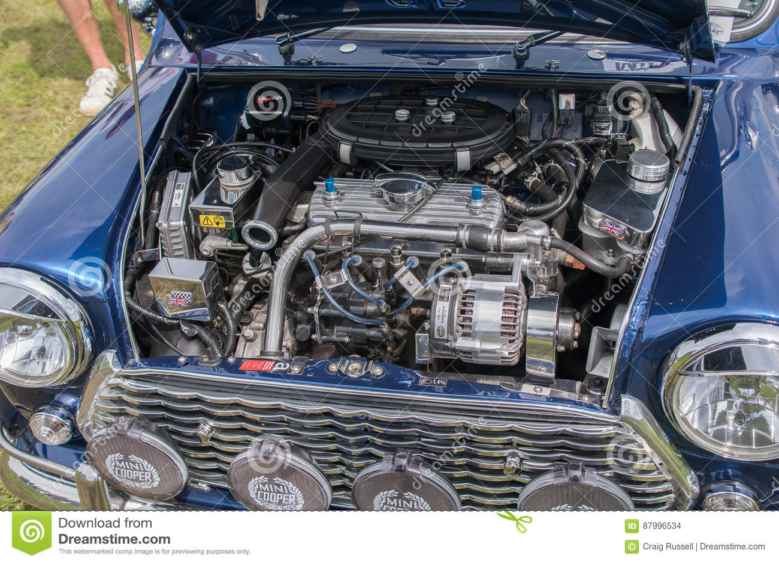 Mini Cooper Engine Editorial Stock Image Image Of Classic 87996534