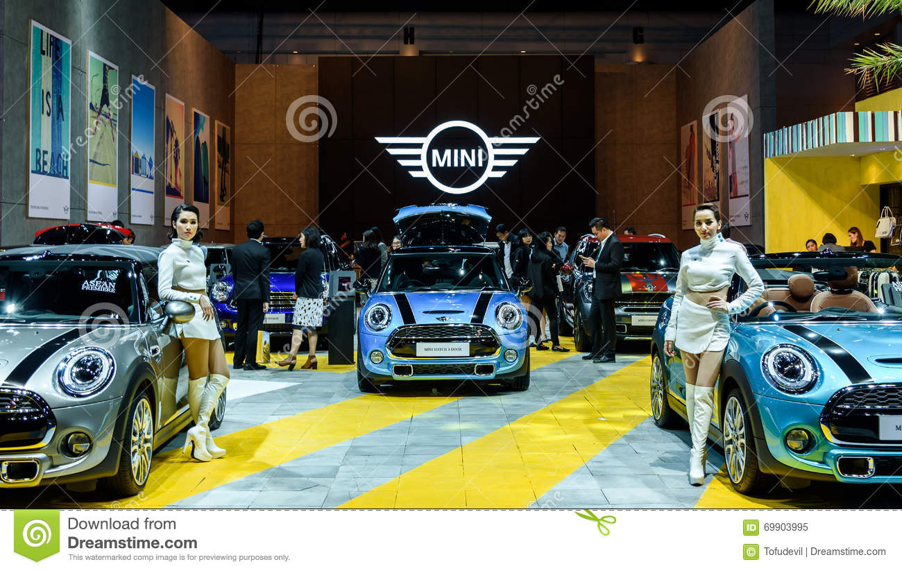 Exhibition Booth Bangkok : Mini cooper exhibit booth editorial image of